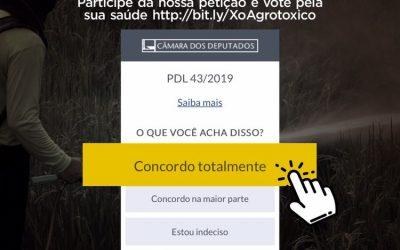 Vote na petição para sustar os novos registros de agrotóxicos no Brasil
