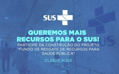 Padilha lança projeto para construção coletiva do Fundo de Resgate da Saúde Pública