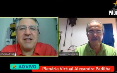 Plenária virtual do conselho político do mandato do Padilha debate crises sanitária, política e econômica causadas pela pandemia de coronavírus
