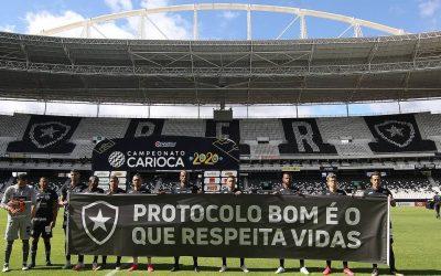 Não há alegria que contagia o futebol sem a responsabilidade com a Covid-19