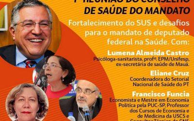 Mandato participativo do deputado Padilha realiza primeira reunião do Conselho de Saúde; criado para ações de defesa da vida e do SUS